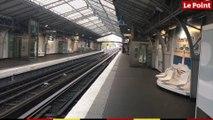 Paris : la station La Motte-Picquet - Grenelle, le mardi 17 mars 2020, à 7h30