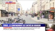 Confinement : les rues de Paris dans le quartier de la Bastille se sont vidées