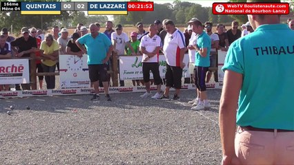 National à pétanque de Bourbon-Lancy 2019 :  16ème QUINTAIS vs DE LAZZARI
