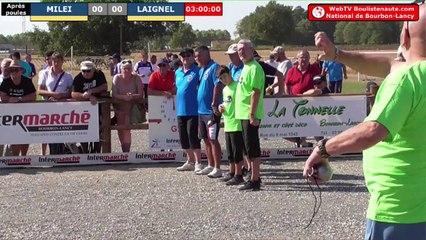 National à pétanque de Bourbon-Lancy 2019 : Sortie de poules MILEI vs LAIGNEL