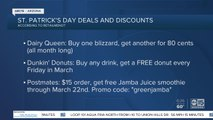 St. Patrick's Day deals around the Valley