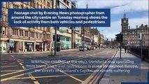 Edinburgh city centre drops eerily quiet as coronavirus pandemic takes hold
