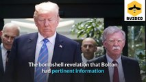 Donald Trump was scared and tried prevent when John Bolton revealed the truth