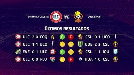 Previa partido entre Unión La Calera y Cobresal Jornada 9 Primera Chile