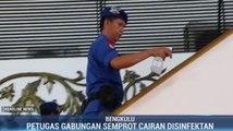 Bandara Fatmawati Soekarno Disemprot Disinfektan