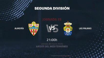 Previa partido entre Almería y Las Palmas Jornada 33 Segunda División