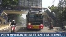 Sejumlah Ruas Jalan dan Fasilitas Umum di Bandung Disemprot Disinfektan