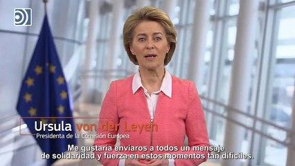 """Von der Leyen manda un mensaje de apoyo a España y sus sanitarios: """"No estáis solos"""""""