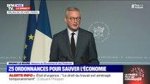 """Bruno Le Maire (Minisitre de l'Economie et des Finances): """"L""""ordonnance prévoit de demander le report ou la suspension du paiement des loyers pour les petites entreprises sur la base de l'accord que nous avons trouvé avec l'ensemble des bailleurs"""""""