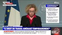 """Muriel Pénicaud (ministre du Travail) : """"nous permettons de déroger aux règles relatives à la durée du travail, au repos hebdomadaire et dominical"""""""