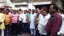 बेंगलुरु में हो रहे घटनाक्रम पर इंदौर कांग्रेस कार्यालय पर दिखा आक्रोश