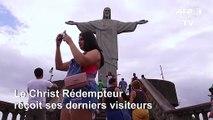 Coronavirus: les touristes se ruent pour visiter le Christ Rédempteur de Rio avant sa fermeture