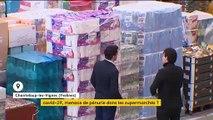 Coronavirus : cohue dans les supermarchés par crainte d'une pénurie