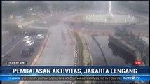 Arus Lalin di Jakarta Lengang di Tengah Pandemi Covid-19