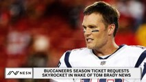 Buccaneers Season Ticket Interest Skyrockets With Tom Brady News