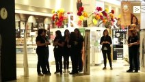 Employees of malls in Santiago of Chile protest to force their closure