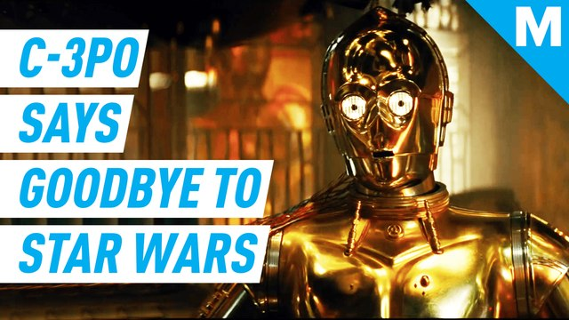 C-3PO says goodbye to 'Star Wars'