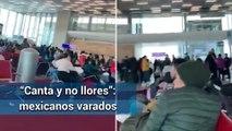 Mexicanos cantan el Cielito Lindo; estan varados en aeropuerto de Paris