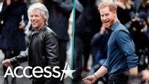 Prince Harry And Jon Bon Jovi Recreate Beatles' 'Abbey Road' Album Cover