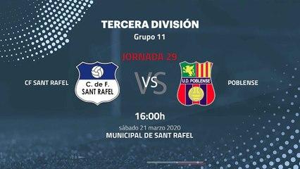 Previa partido entre CF Sant Rafel y Poblense Jornada 29 Tercera División