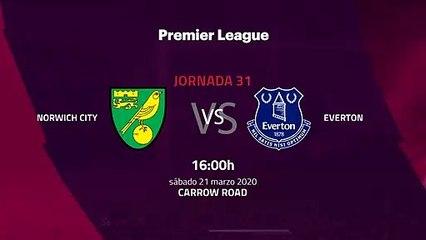 Previa partido entre Norwich City y Everton Jornada 31 Premier League