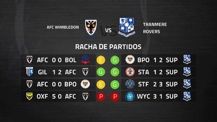 Previa partido entre AFC Wimbledon y Tranmere Rovers Jornada 39 League One