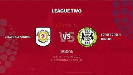 Previa partido entre Crewe Alexandra y Forest Green Rovers Jornada 40 League Two