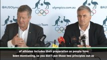 Australian Olympic chief says movement is serious about coronavirus