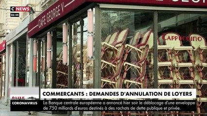 VIRUS - Les commerçants qui ont été obligés de fermer demandent l'annulation des loyers durant la période de fermeture - VIDEO