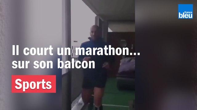 Près de Toulouse, il court un marathon sur son balcon !