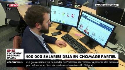 VIRUS - 400.000 salariés sont déjà au chômage partiel suite à l'épidémie de coronavirus - VIDEO