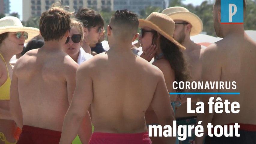 Coronavirus : en Floride, les plages bondées pour le « Springbreak »