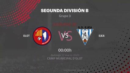 Previa partido entre Olot y Ejea Jornada 30 Segunda División B