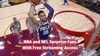 NBA And NFL Surprise With Streaming