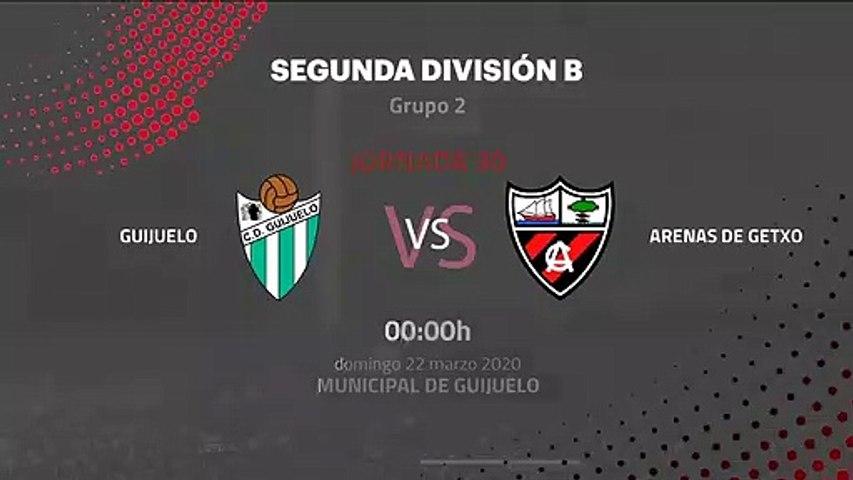 Previa partido entre Guijuelo y Arenas de Getxo Jornada 30 Segunda División B