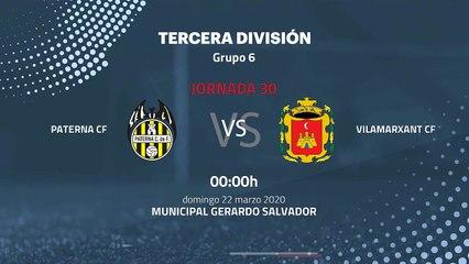 Previa partido entre Paterna CF y Vilamarxant CF Jornada 30 Tercera División