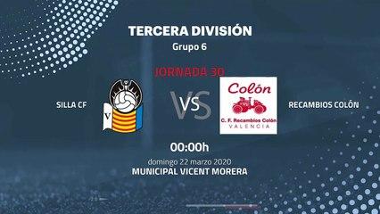 Previa partido entre Silla CF y Recambios Colón Jornada 30 Tercera División