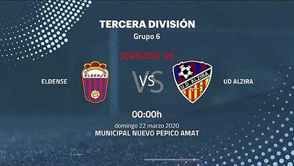 Previa partido entre Eldense y UD Alzira Jornada 30 Tercera División