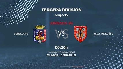 Previa partido entre Corellano y Valle de Egüés Jornada 30 Tercera División