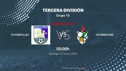 Previa partido entre CD Fontellas y CD Pamplona Jornada 30 Tercera División