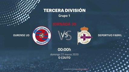 Previa partido entre Ourense UD y Deportivo Fabril Jornada 30 Tercera División