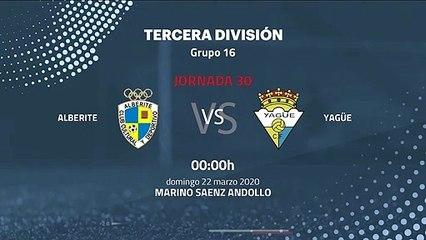 Previa partido entre Alberite y Yagüe Jornada 30 Tercera División