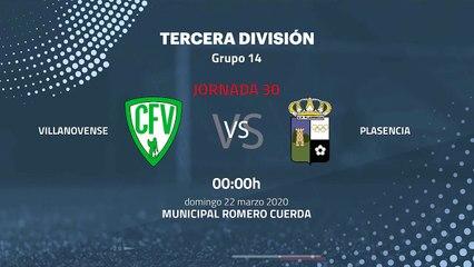 Previa partido entre Villanovense y Plasencia Jornada 30 Tercera División