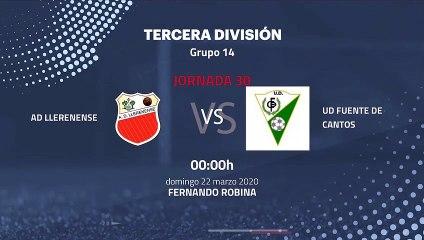 Previa partido entre AD Llerenense y UD Fuente De Cantos Jornada 30 Tercera División