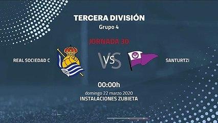 Previa partido entre Real Sociedad C y Santurtzi Jornada 30 Tercera División