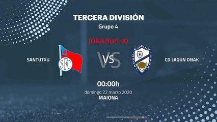 Previa partido entre Santutxu y CD Lagun Onak Jornada 30 Tercera División
