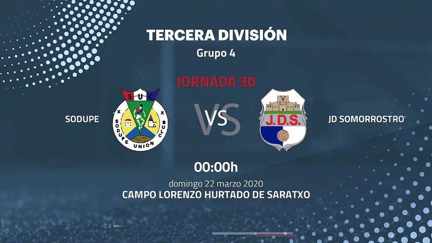 Previa partido entre Sodupe y JD Somorrostro Jornada 30 Tercera División