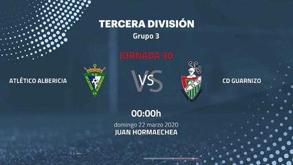 Previa partido entre Atlético Albericia y CD Guarnizo Jornada 30 Tercera División