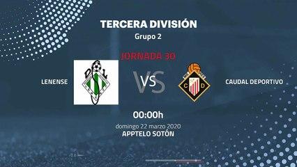 Previa partido entre Lenense y Caudal Deportivo Jornada 30 Tercera División