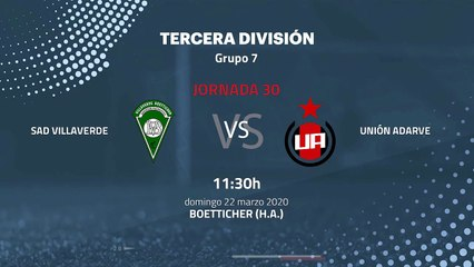 Previa partido entre SAD Villaverde y Unión Adarve Jornada 30 Tercera División